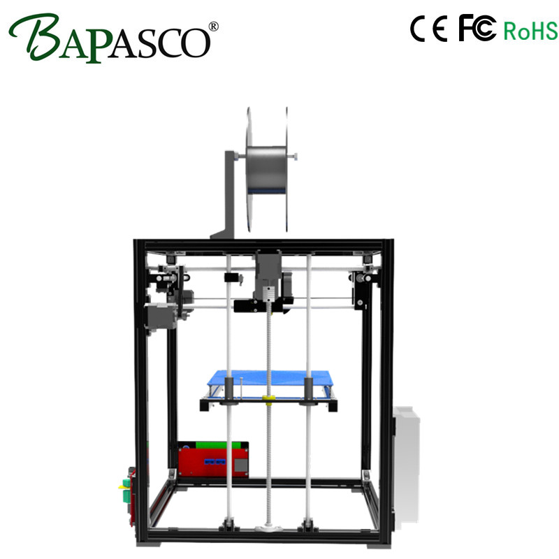 Easy Assemble Bapasco X5 3D Printer Kit High Precision Reprap Prusa i3 DIY 3D Printing Machine+ Hotbed+1KG Filament+SD Card+LCD