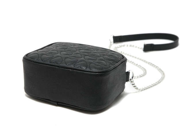 d396bb4c87 Online Shop Loving Heart Black PU Leather Quilted Shoulder Messenger Bag  Small Chain Sling Bag Crossbody Bags for Women Girls