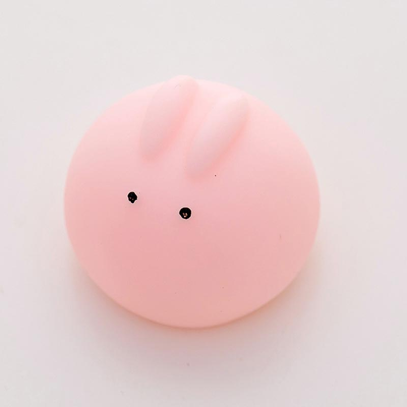 Купить с кэшбэком Cute Seal Toys Pink Screaming Rubber Pig Pet Toys squeak Smiling face Squeakear Rabbit Doll Toy Funny Decompression toy