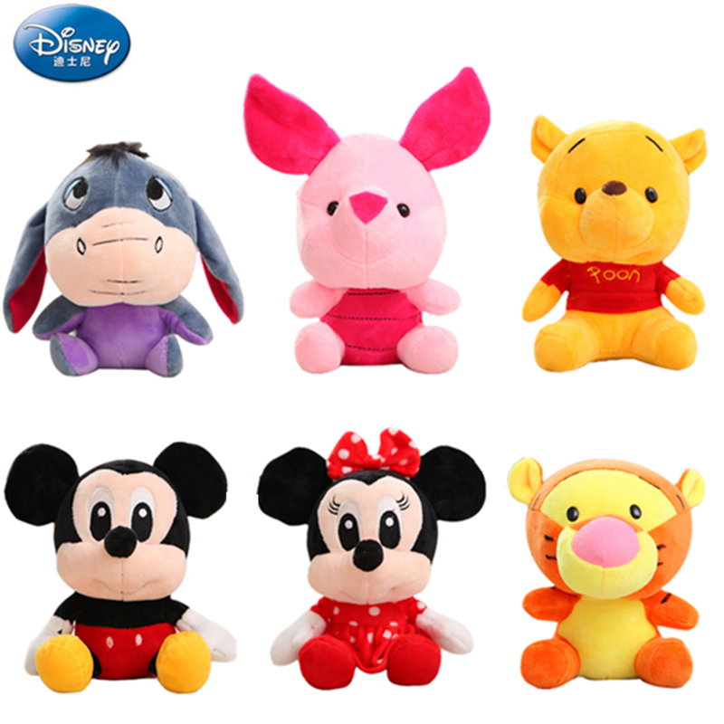 Disney Plush Toy Winnie The Pooh Mickey Mouse Minnie Tigger Cute Stuffed Animals Doll Piglet Action Figure Toy For Children Gift