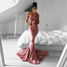 Saudi Arabic Mermaid Prom Dresses Simple Designed Pink Long Prom Gowns Satin Abiye gala jurken Strapless