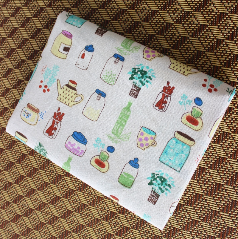 ▽50x150cm Cotton Colorful Bottles Fabric Cloth DIY Handmade Sewing ...