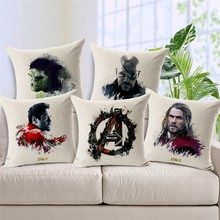 Fashion One-Eyed Dragon Cushions Widow Linen Cushion Cover Hammer Green Man Movie Throw Pillow Iron For Living Room Bed Room цена