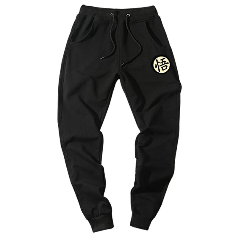 Casual Funny Print Dragon Ball Goku Mens Pants Cotton Autumn Winter Gray Men Joggers Sweatpants Plus Size Black Trouser pantalon(China)