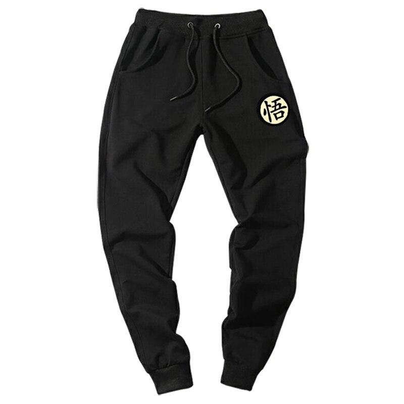 Casual impresión Dragon Ball Goku para hombre pantalones de algodón Otoño Invierno gris hombres Pantalones deportivos más tamaño negro pantalon