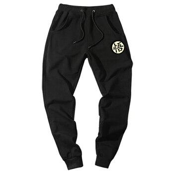 Casual Funny Print Dragon Ball Goku Mens Pants Cotton Autumn Winter Gray Men Joggers Sweatpants Plus Size Black Trouser pantalon Casual Pants