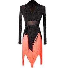 Сплайсинга латино-американских танцев платья продается американская платье для латинских танцев латино платье для самбы костюм для Латинской сальсы, платье, Одежда для танцев
