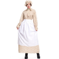 Halloween Women Cosplay Dresses Fairy Tale Big Bad Wolf Auntie Costume Grandma Cosplay Gown Dress Fancy Party Stage Dress