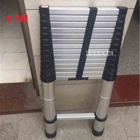New DLT A Aluminum Alloy Thickened 5.7 Meters Extension Ladder 15 step Single sided Straight Ladder Folding Engineering Ladder