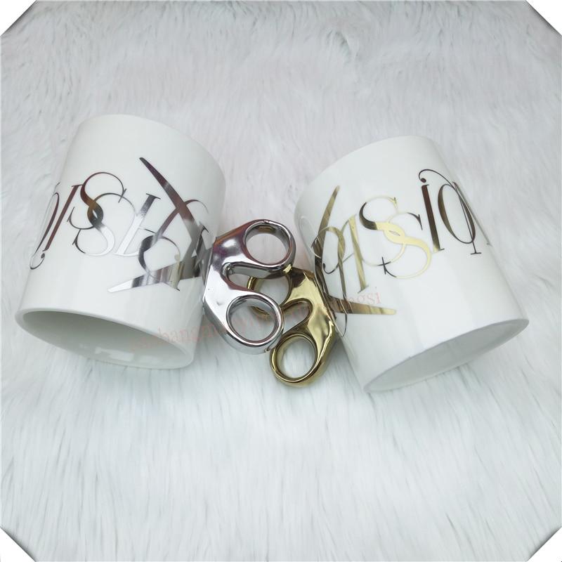 Cute Ceramic Coffee Mug Novelty Milk Tea Cups and Mugs Scissors shape Mugs Animal Mugs Drinkware Christmas Gift 1pcs 6ZDZ258