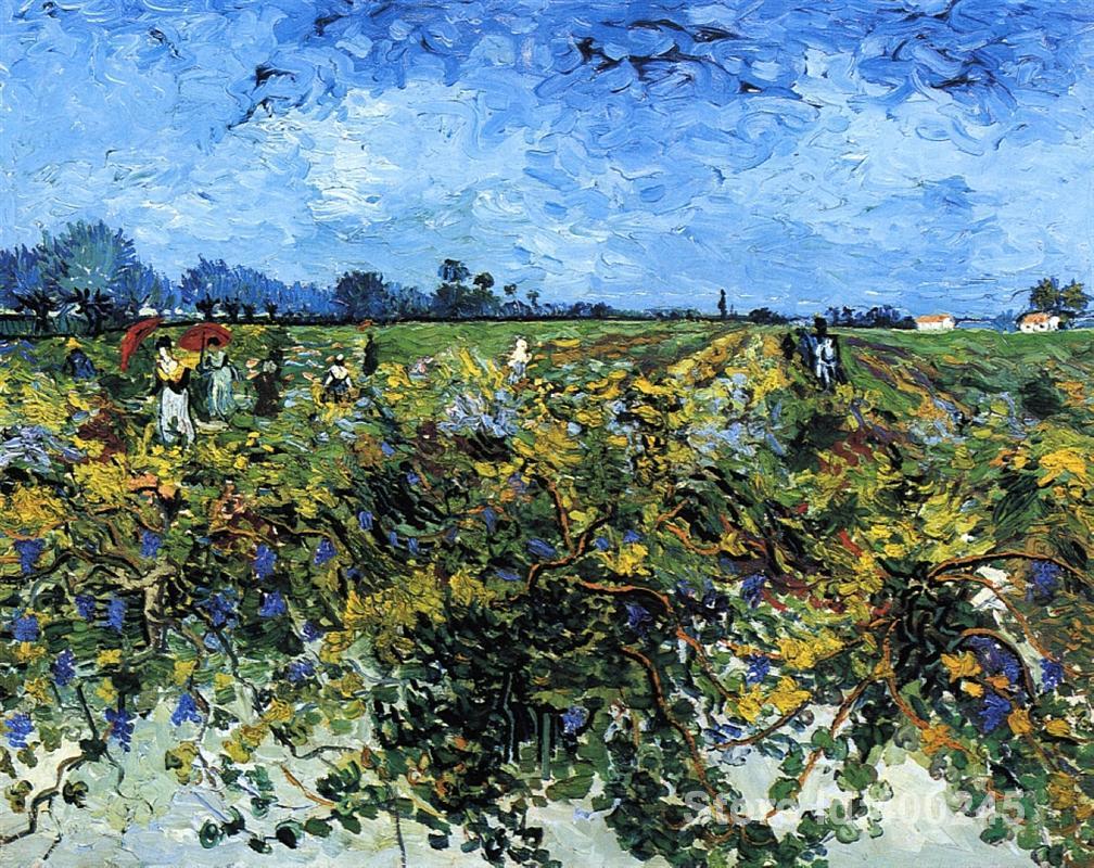 ᐊPintura famosa del arte para la Sala Verde vinyard Vincent van ...