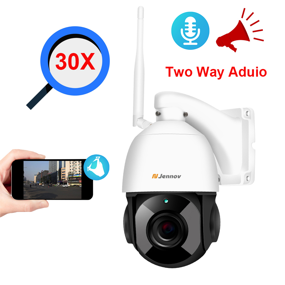 Two Way Aduio 1080P PTZ IP Camera Outdoor Onvif 30X 5X ZOOM 4.5inch Big Waterproof Speed Dome Camera 2MP CCTV Security Camera