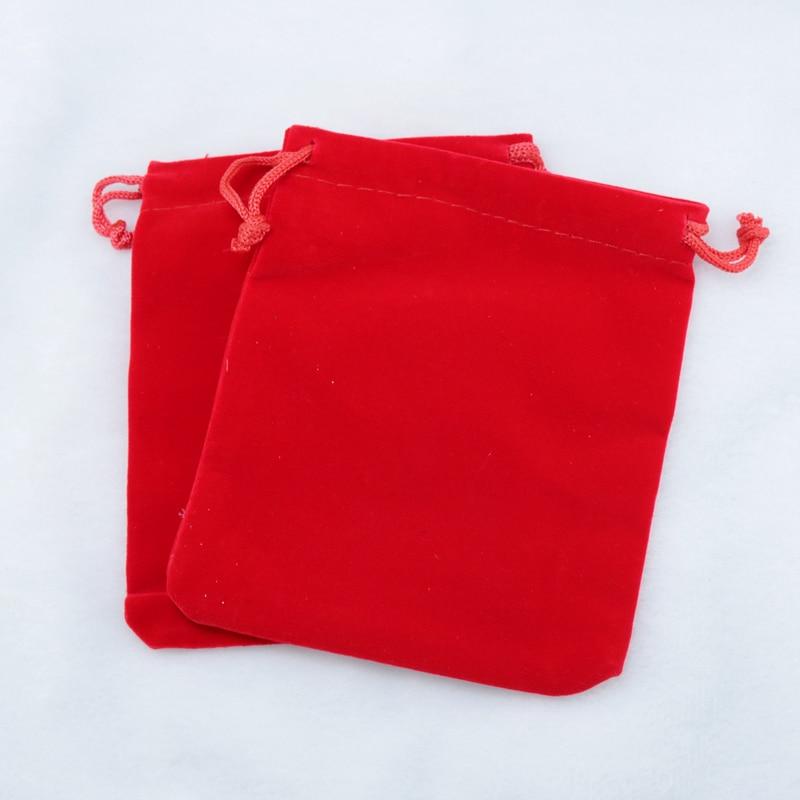 7a39d0625 Alta calidad libre 15x20 cm 50 unids/lote terciopelo rojo Bolsas joyería  Accesorios reloj pulsera regalo de embalaje