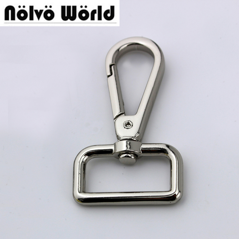 30pcs 5 Colors 6*2.5cm 1 Inch Silver Lacquer Trigger Snap Hook Swivel Clasp Hooks For DIY Leather Goods Metal Parts