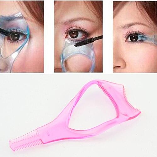 Women 3 In 1 EyeLash Curler Mascara Brush Applicator Guid Comb Cosmetic Eye Lashes Beauty Makeup Tools