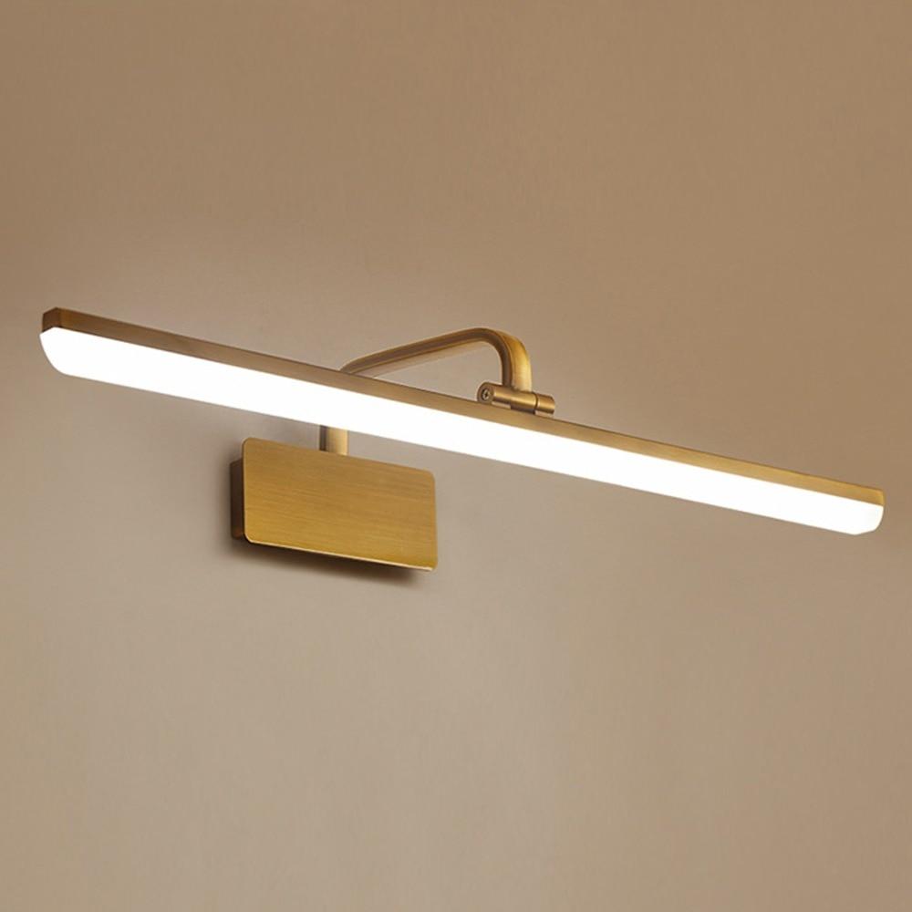 Lumineux Style américain LED toilette salle de bain miroir lumière avant maquillage chambre couloir vanité applique murale