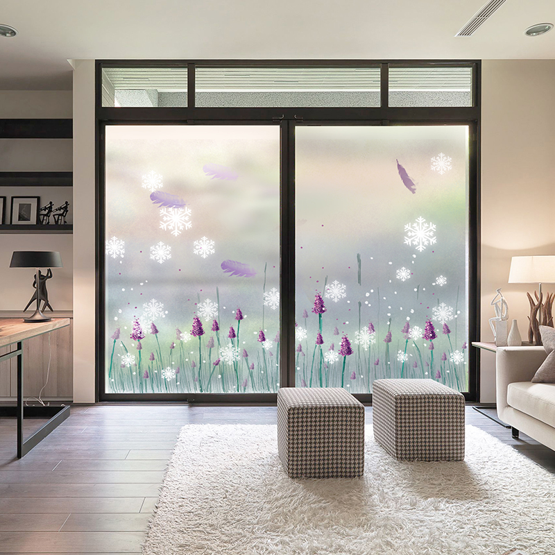 Frosted glass stickers sliding doors and windows ...