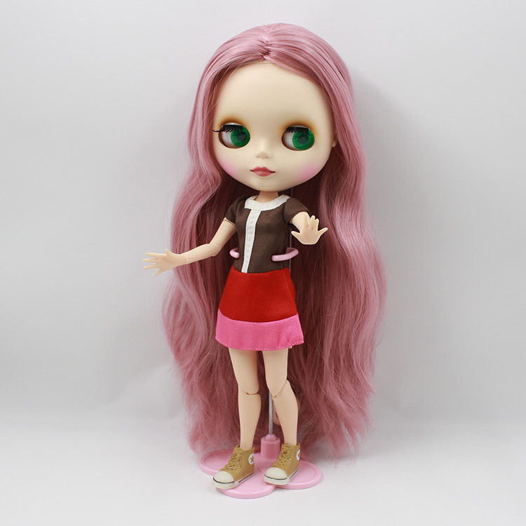 Free shipping Nude Doll For Series No. 280BL1063 Joint Doll Pink hair Suitable For DIY Change BJD Toy For Girl все цены