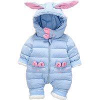 Newborn Baby Hooded Romper Winter Baby Clothes Thick Cotton Outerwear Baby Girls Outfits Baby Boys Jumpsuit Infant Overalls E200