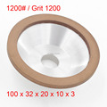 Red Resin Diamond Grinding 1200 Grit Wheels Stone 100mm x 32mm x 20mm x 10mm x 3mm China sandpaper grinding wheel  Bowl Shape