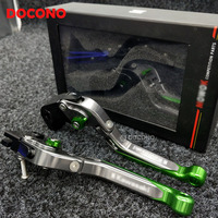 Motorcycle Brakes Levers CNC Adjustable Foldable Lengthening Brake Clutch Levers For Kawasaki ER6N ER6F ER 6N