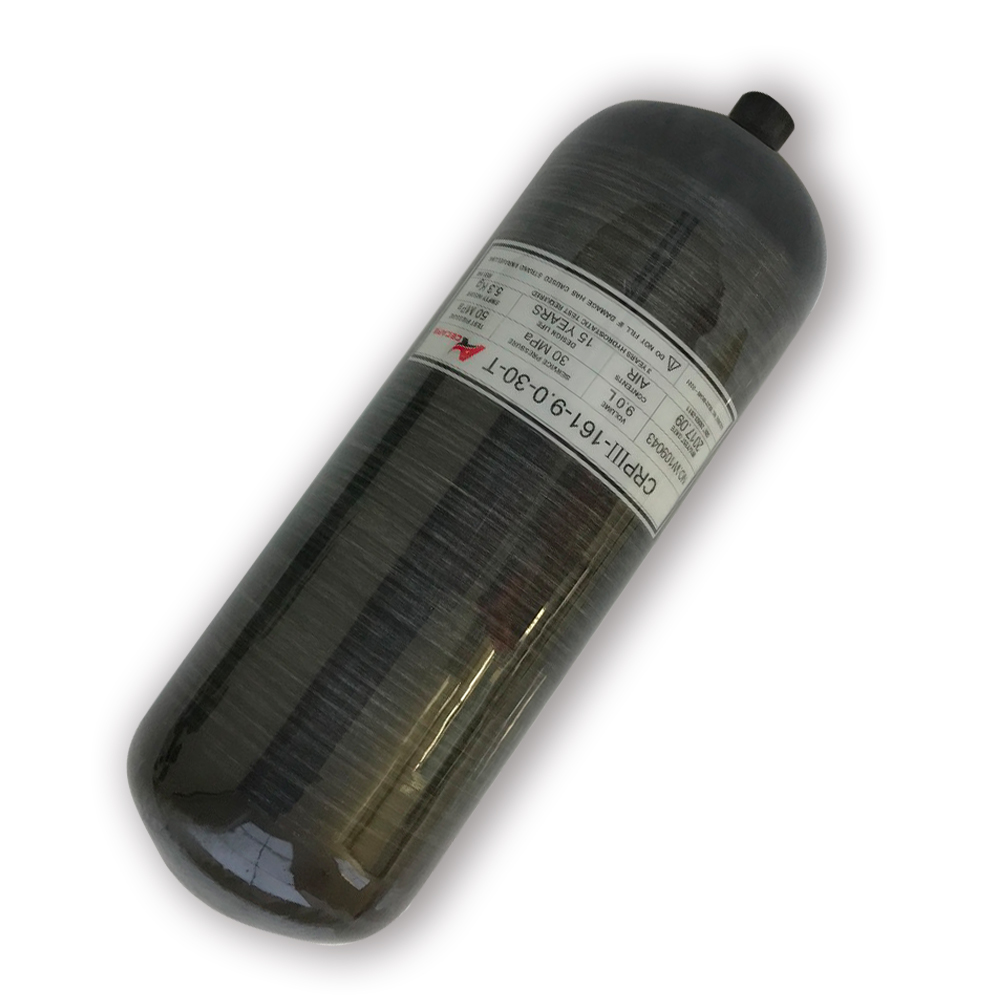 AC3090 Promotion Hot 9L 4500Psi Black Carbon Fiber Composite Cylinder Thread/Gas Bottle High Pressure For PCP Air Gun Acecare