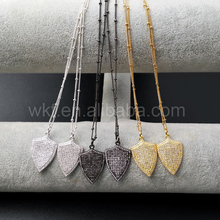 WT-N861 New Design CZ Necklace gold Chain Necklace,Sparkly Cubic zircon Micro pave Necklace in high quality 5pcs