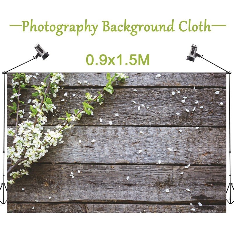 Freya New Horizonta 1.5x0.9m Wood Wall Flower Vinyl Photography Background For Studio Photo 5x3FT Photographic Backdrops cloth 7x5ft vinyl photography background white brick wall for studio photo props photographic backdrops cloth 2 1mx1 5m