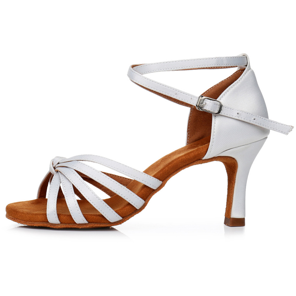 Image 5 - Hot selling Women Professional Dancing Shoes Ballroom Dance Shoes Ladies Latin Dance Shoes heeled 5CM/7CM 8 colour EU34 42-in Dance shoes from Sports & Entertainment on AliExpress