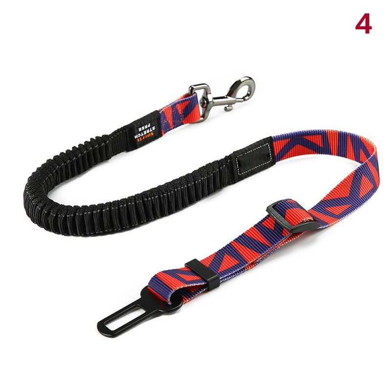 Горячий регулируемый ремень безопасности для собак для автомобиля собаки автомобиля жгут с банджи буфера безопасности эластичные поводки PLD
