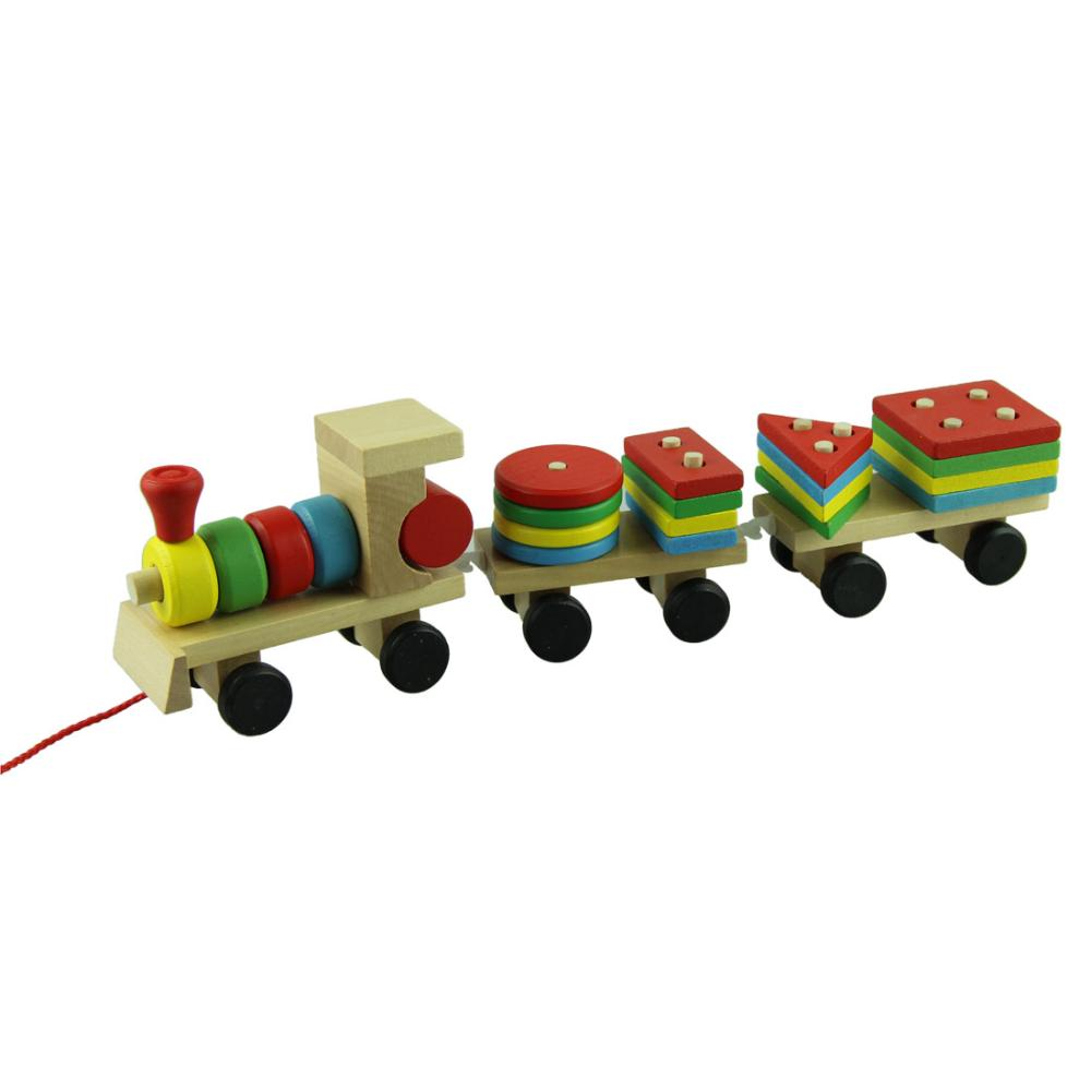 compare prices on modern toys train online shoppingbuy low price  - modern educational wooden toys children wooden stacking train wooden blocksbaby early learning toys  set