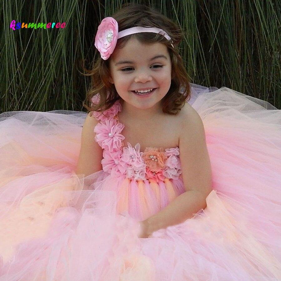 Compra peach floral tutu dress y disfruta del envío gratuito en ...