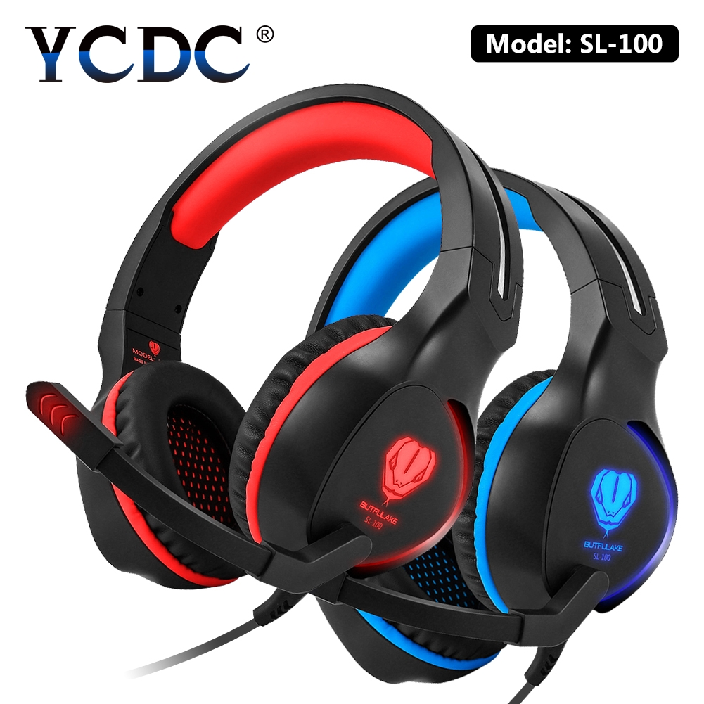YCDC For PS4 iPhone Huawei Gaming Headset Hi-Fi capable Headphones and Detachable noise-cancellation mic and Volume controller колонка hi fun hi brick for ipod and iphone silver