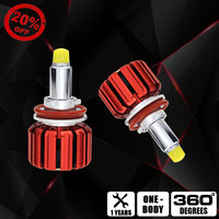 NEW H11 Car Headlight Bulb H7 LED Headlamp Bulb Kit 9012 HIR2 LED 12V 35W 3500LM 6000K 4750K 9005 HB3 With CSP Clip 360 Lighting