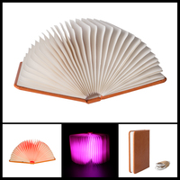 Creative Book Light Lamp 5 Colors Foldable Booklight With Magnetic Build In Lithium Ion Battery USB