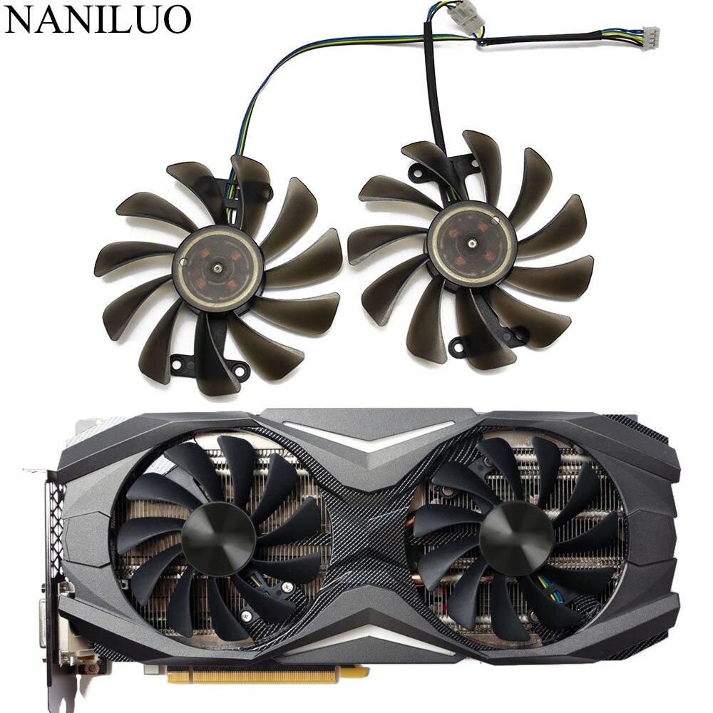 2PCS/lot 95mm 4Pin Cooler Fan Replace For Zotac GeForce GTX 1070 1080 GTX1070 GTX1080 AMP Edition Graphics Card Cooling Fan