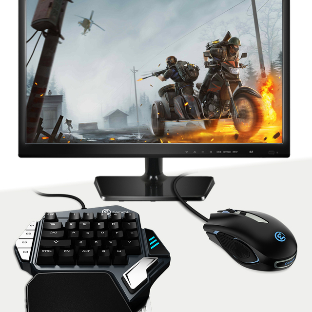 GameSir Z1 Gaming Keypad, One-handed Cherry MX red switch keyboard / Mechanical Blue axis /BattleDock, Gaming mouse optional 1