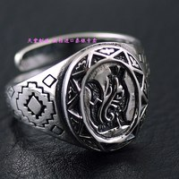 Vintage Thai Silver Fox Rings 925 Silver Tail Ring for Men and Women ring Adjustable Sterling Silver Small Ring