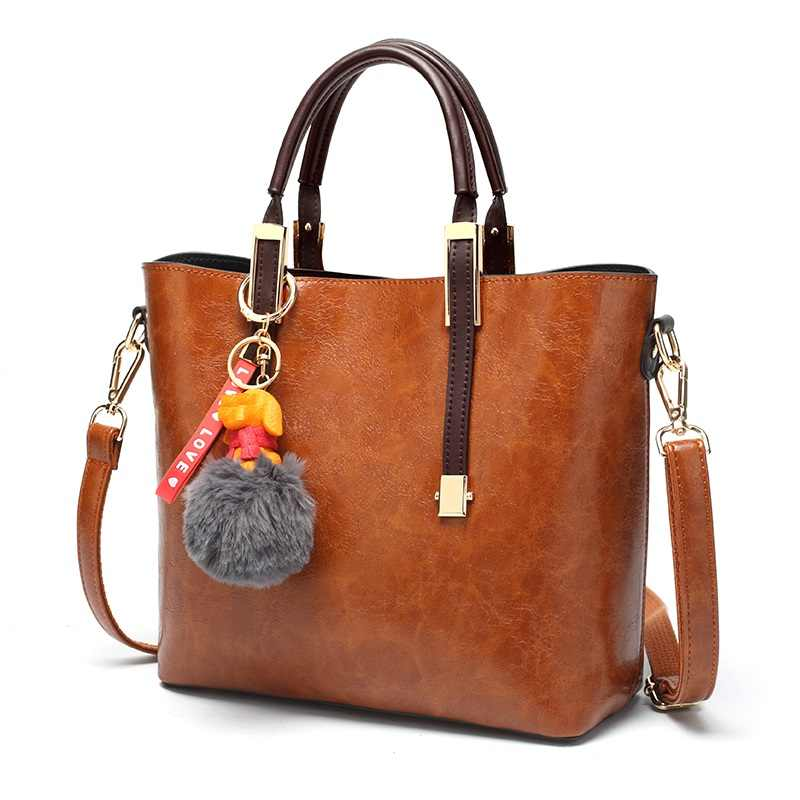 Casual Tote brand famous real genuine leather handbag women tote bag female shoulder bags for women sac a main T58