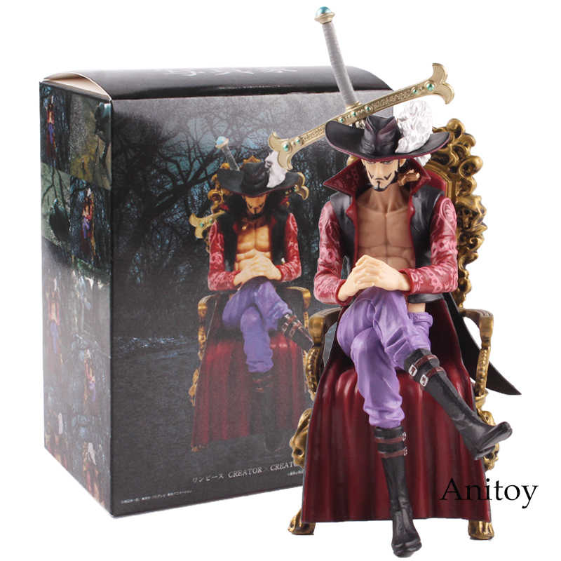 Anime One Piece Dracule Mihawk Assis Ver PVC Action Figure collectible Model Toy Gift 16cm