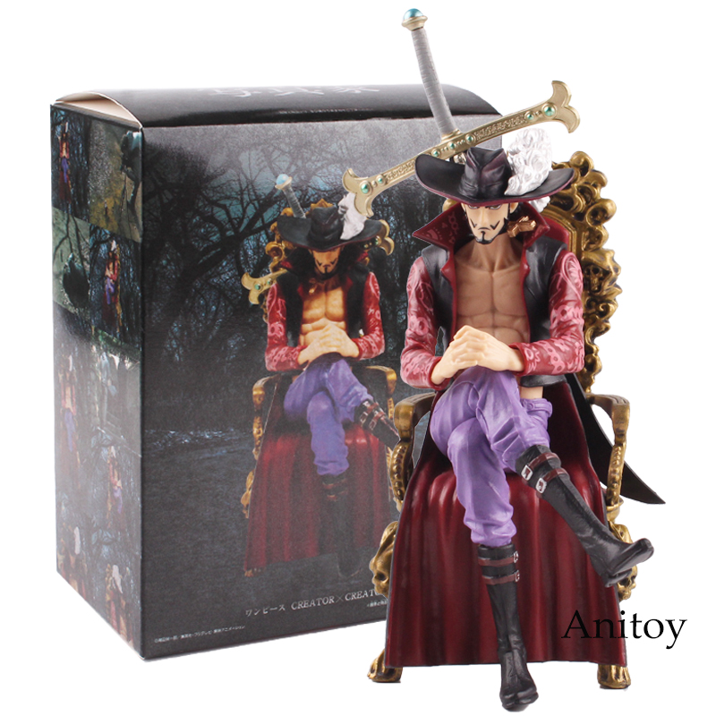 Anime One Piece Dracule Mihawk Assis Ver PVC Action Figure collectible Model Toy Gift 16cm стоимость