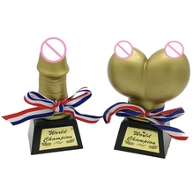 2Pcs Funny Willy Game Sex Trophy Bachelorette Party Supplies Hen Night Bridal Shower Party Decoration Gift