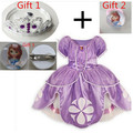 2015 Princess Sofia Dress ,Baby Girl Princesa Sophia Costume For Party ,Sofia The First Roupas Infantil Meninas. Sofia Crown set