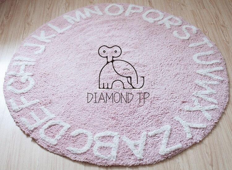 WINLIFE Europe du nord 26 tapis de sol en coton lettre coussin de sol pour chambre d'enfants décoration de la maison tapis de pique-nique en plein air