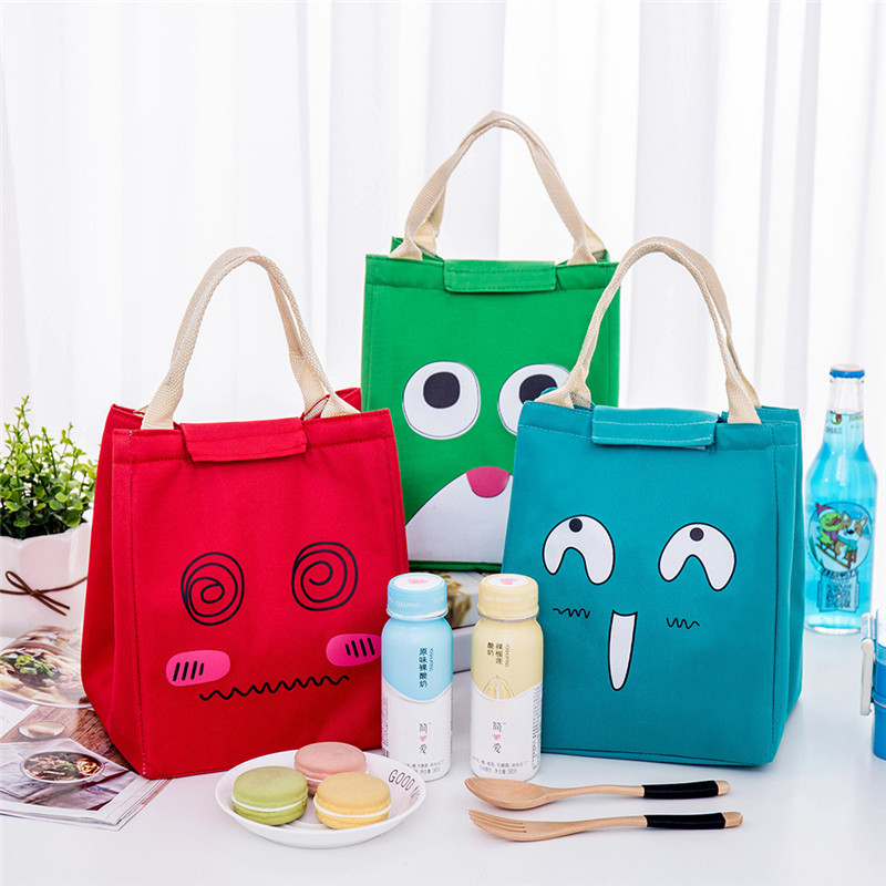Cartoon Insulated Cooler Lunch Box Bag Picnic Storage Box Women Kids School Box Office Picnic Thermal Cooler Zip Carry Tote