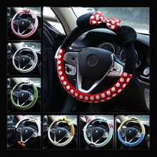 Ciliken Cute Steering Wheel Cover Cartoon Mickey Car Steering cover auto accessories interior for women cover steering whee skin