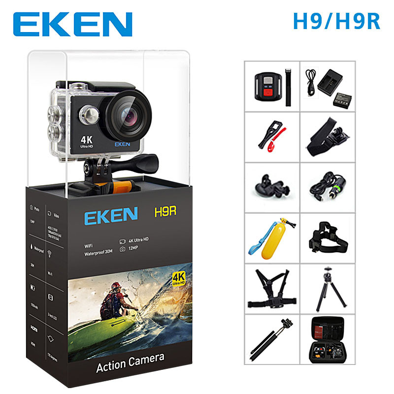 EKEN H9 Action Kamera H9R wifi Ultra HD Mini Cam 4 K/25FPS 1080 p/60fps 720P /120FPS unterwasser Wasserdichte <font><b>Video</b></font> Sport Kamera image