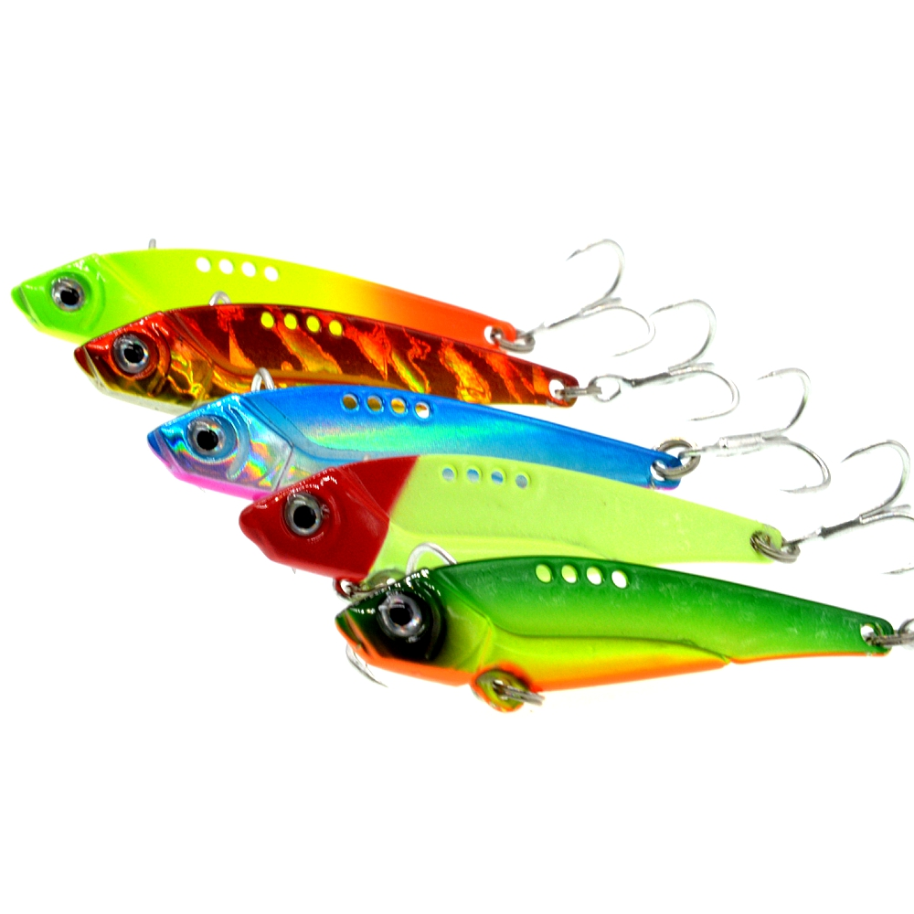 WLDSLURE 5Pcs 12g Iron Plate Metal lead VIB Fish Bait Sinking Sea Fishing Lure Reflective Body High Quality Fishing Tackle-in Fishing Lures from Sports & Entertainment