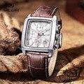 Moda casual megir cronógrafo militar reloj de cuarzo de lujo impermeable analógico de pulsera de cuero reloj de pulsera hombre envío libre 2028