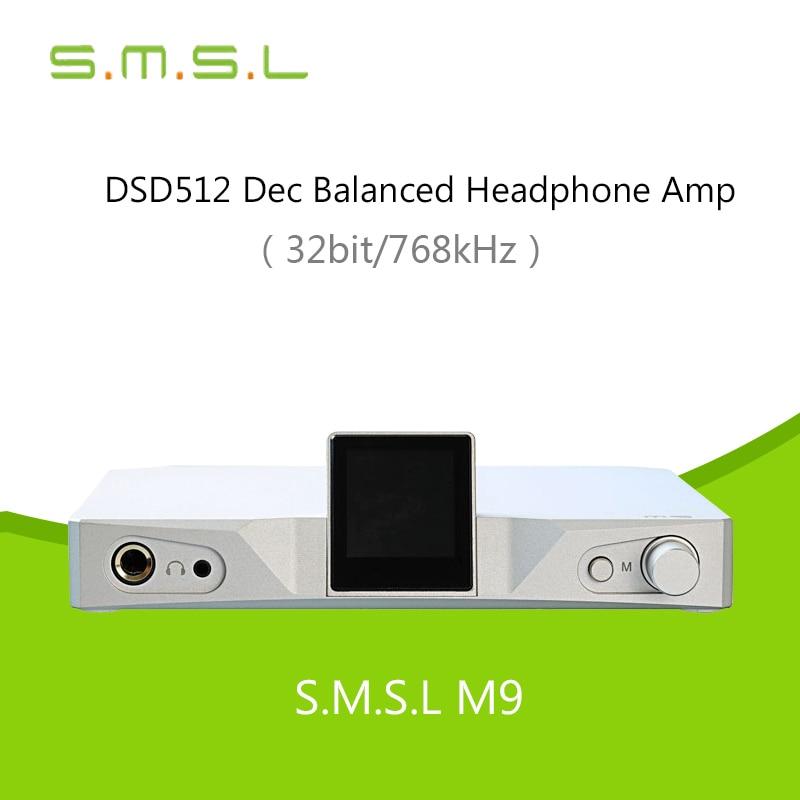 SMSL M9 32bit/768kHz DSD512 AK4490X2 XMOS HiFi Digital Decoder Optical/Coaxial/USB DAC Headphone amplifier Aluminum Enclosure ds1302 32 768k 32 768khz 6pf 5ppm